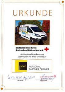 Urkunde 'Deutsches Rotes Kreuz'